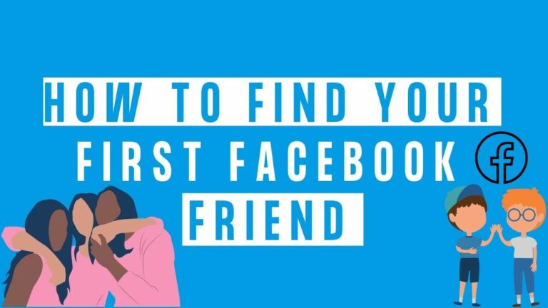 How to find your first Facebook friend